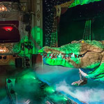 animatronic crocodile at the theatre